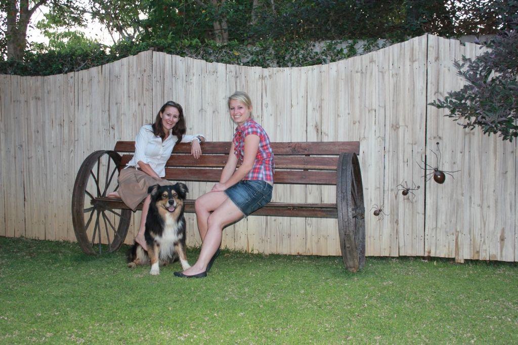 Monika Peball-Korn and Miriam Reiter from The Safari Source at Malcolm Lodge in Harare, Zimbabwe