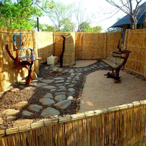Bathroom at Mawimbi Bush Camp