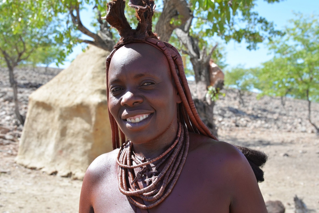 The Himba People live in the Kavango Area in the North of Namibia.