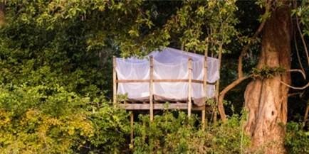 Kanga Under the Stars, a Treehouse at Kanga Camp, Mana Pools Natinal Park, Zimbabwe
