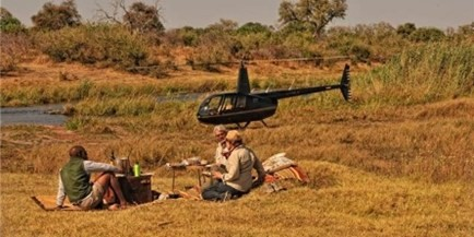 Linyanti Bush Camp has a honeymoon tent with outdoor bath tub overlooking the Linyanti Marsh and offers authentic safari experiences in Linyanti, Botswana