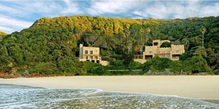 Conrad Pezula's Beach Castle is set on Noetzie Beach, totally private, romantic accommodation for couples, South Africa
