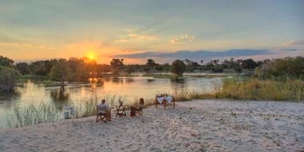 Princess Mary Suite at The River Club on the Zambezi River, near the Victoria Falls, has extras for honeymooners, transfer by boat, and a drink on 'Honeymoon Island', Zambia