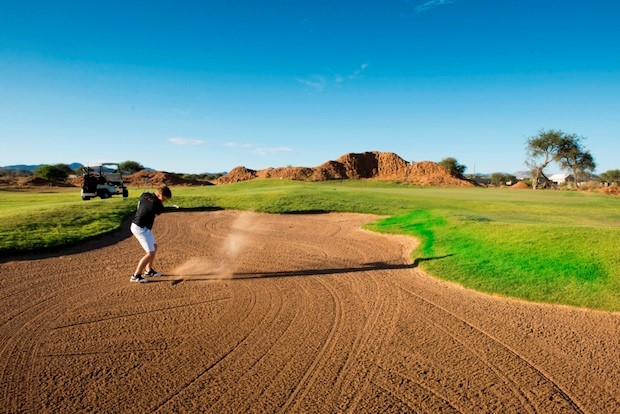 Omeya Golf and Residential Oasis, The Golf Courses in Namibia, Sticking to the fairways at the world class Omeya course