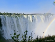 Victoria Falls, one of the seven natural world wonders, Zimbabwe, Zambia, waterfalls.