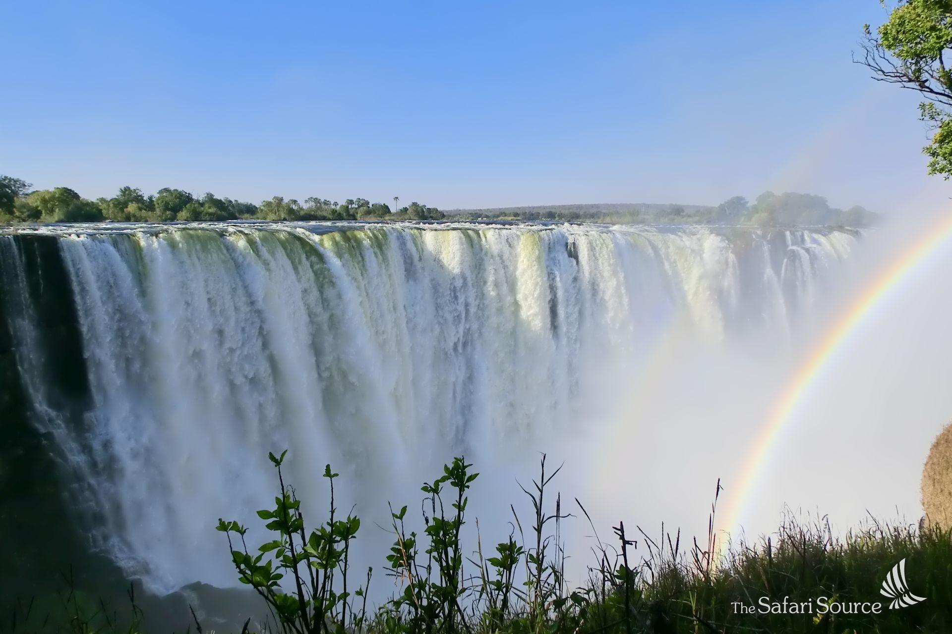 Victoria Falls, one of the seven natural world wonders, Zimbabwe, Zambia, waterfalls.