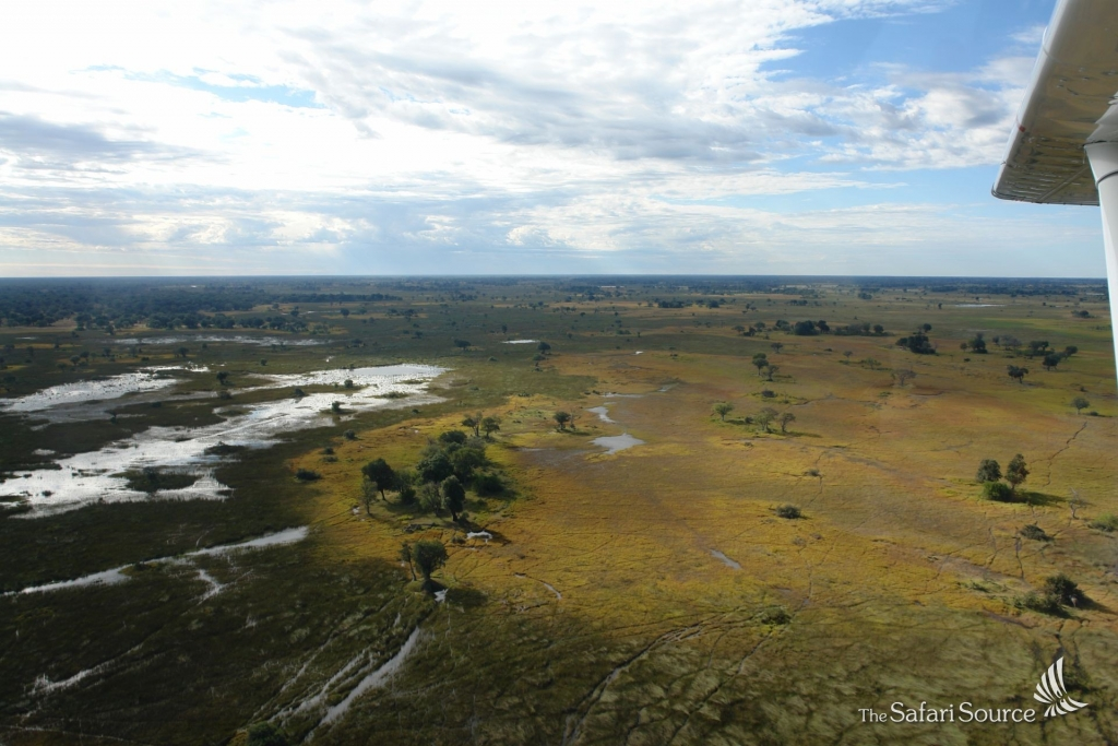 Aerial View from a Charter Plane, Botswana. Image by The Safari Source/Monika Korn.