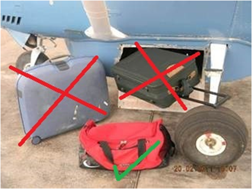 Luggage Restrictions are to be taken serously on Charter Flights