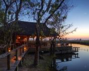 Xakanaxa Camp in Botswana, Tented Safari Camp, Okavango Delta, Wildlife area, Africa.
