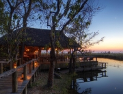 Xakanaxa Camp in Botswana, Tented Safari Camp, Okavango Delta, Wildlife area, Africa.