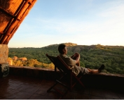 Big Cave Camp is set amidst the Matopos Hills, Zimbabwe.