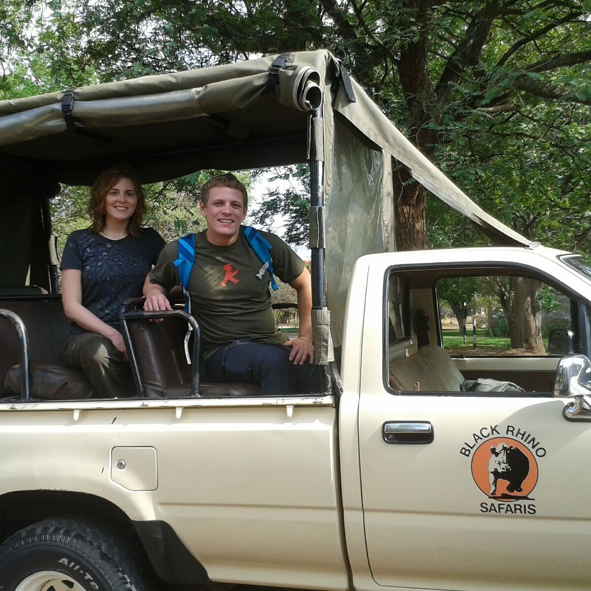 Guests departing on a Day Trip to Matopos to track Rhino and see the stunning Matopos hills and its rock formations, Bulawayo, Zimbabwe.