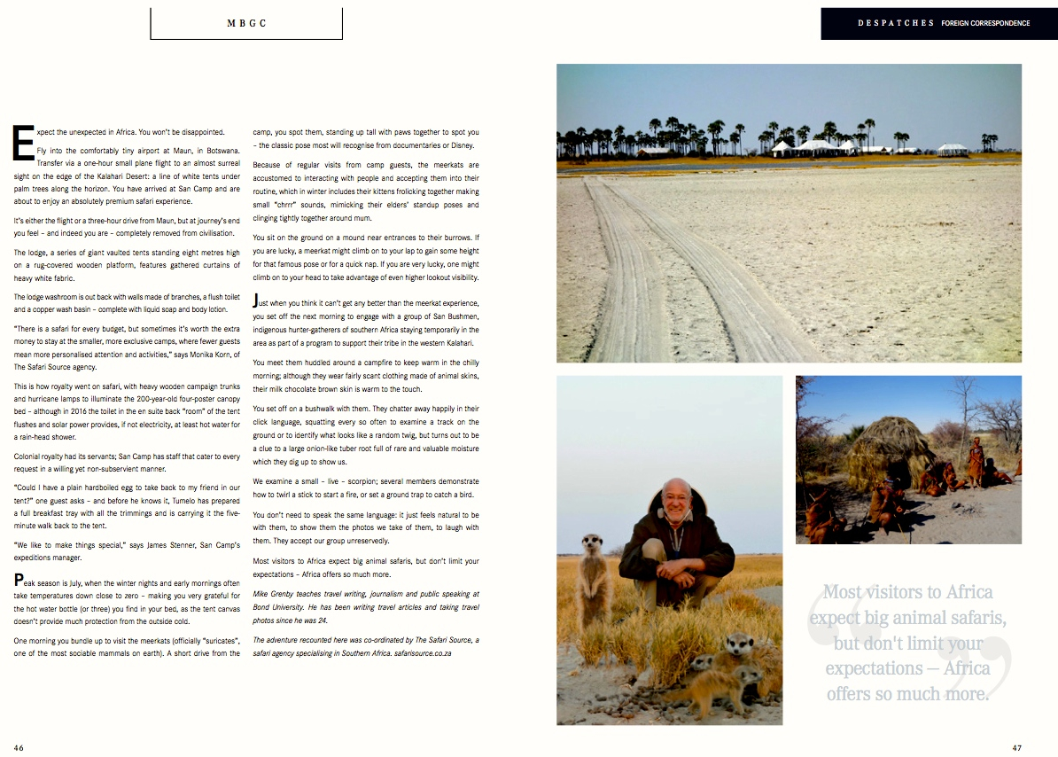 Publicity & Press | The Safari Source in the Press