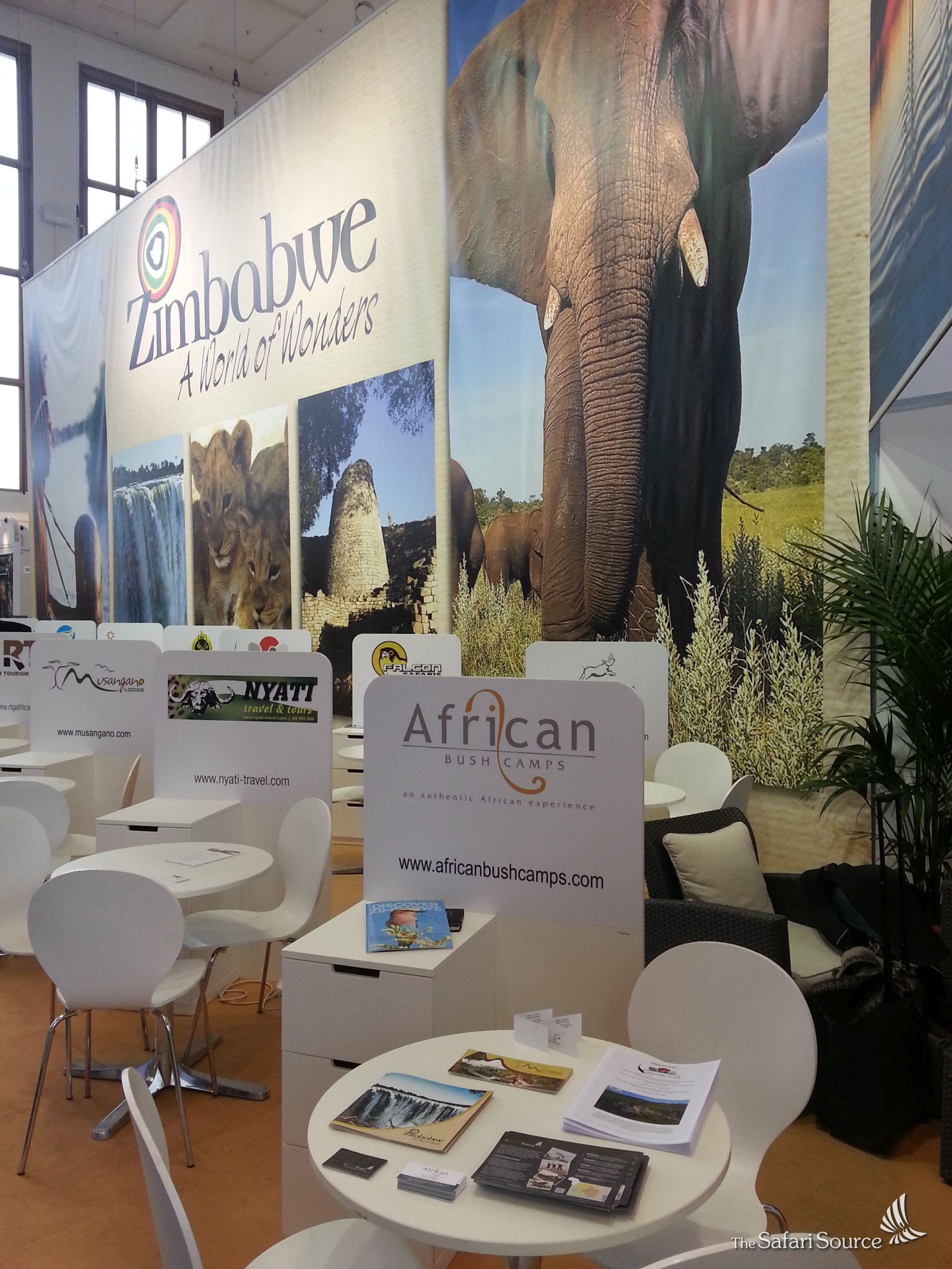 The Safari Source exhibited at the ITB Berlin 2016 at the African Bush Camps Stand, Germany, Europe.