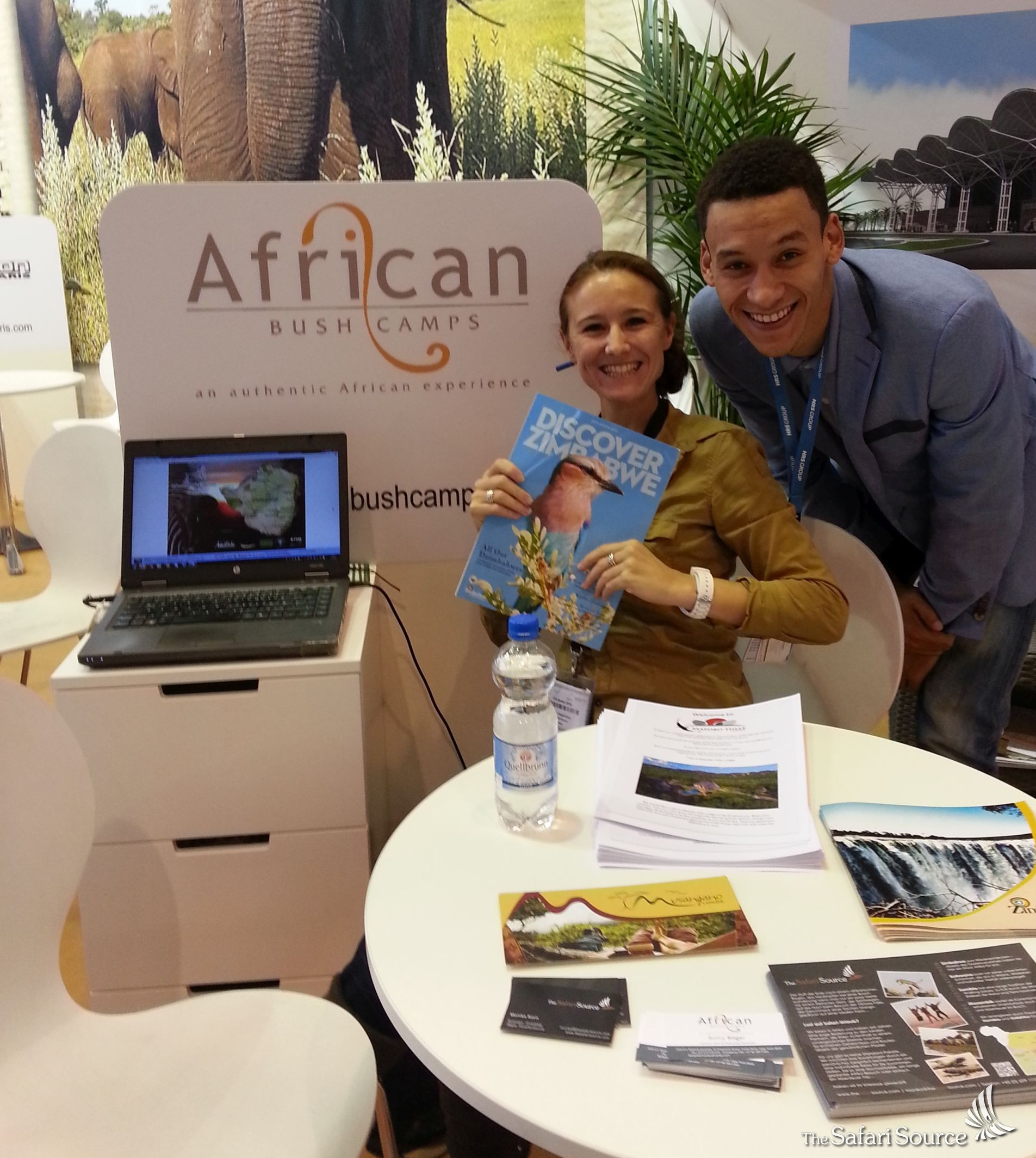 Monika, The Safari Source, at the ITB Berlin 2016 in Berlin, Germany, exhibiting at the Zimbabwe Stand.