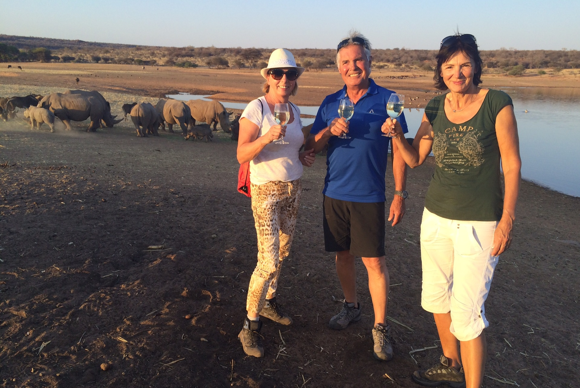 Clients Fae in Namibia on their self-drive tour