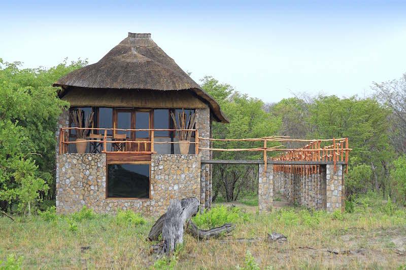 Gwango Elephant Lodge, Tree-Top Villa external view.