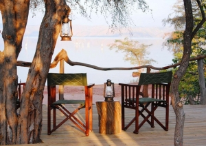 Changa Safari Camp - the main deck looking over the Lake Kariba.