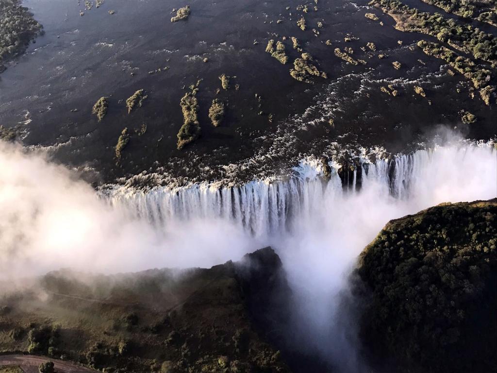 Victoria Falls - aerial view.