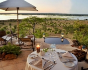 Ngoma - private poolside dinner.