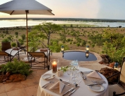 Ngoma - private poolside dinner.