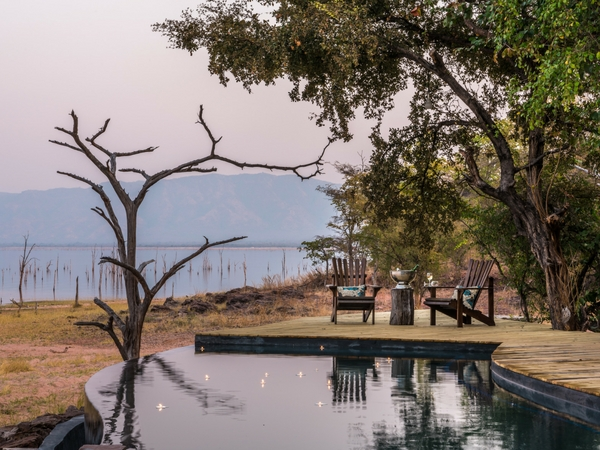 Changa safari Camp - deck