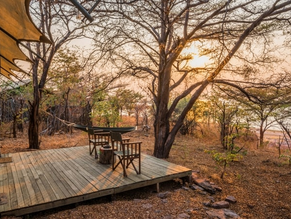 Changa safari Camp - private deck