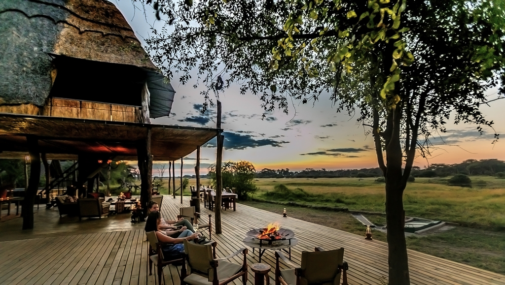 Fire pit with a view at The Hide