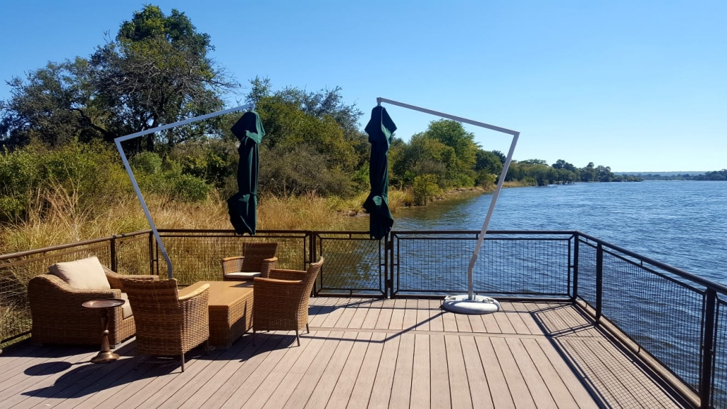 Boat deck at Old Drift Lodge