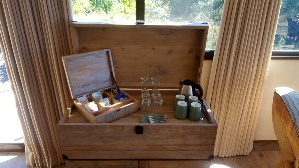 Coffee station at Old drift Lodge
