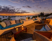 Sunset views from Ibo Island Lodge