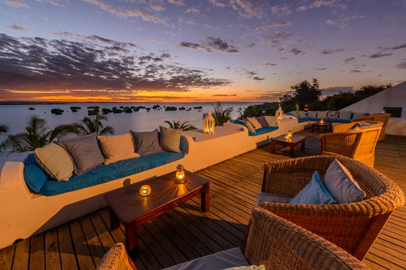 Sunset views from Ibo Island Lodge